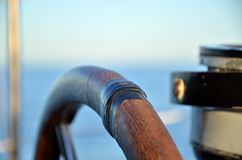 Штурвал морского пехотинца яхты Стоковое Фото