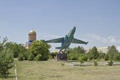 Штурмовик SU-25 солдат-земли памятника Стоковое Изображение RF