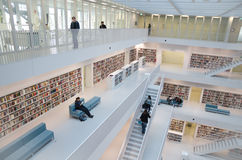 Штутгарт, Германия - 21-ое мая 2015: Публичная библиотека Штутгарта, Стоковые Фото