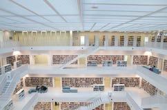 Штутгарт, Германия - 21-ое мая 2015: Публичная библиотека Штутгарта, Стоковые Изображения