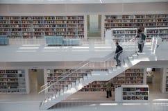 Штутгарт, Германия - 21-ое мая 2015: Публичная библиотека Штутгарта, Стоковое Изображение RF