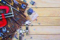 Штуцеры мебели и инструменты joinery Стоковое Фото