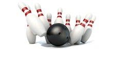 10 штыри и шариков боулинга Pin Стоковое Фото