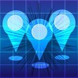 Штырь карты изолированный на белой предпосылке Infographic также вектор иллюстрации притяжки corel иллюстрация вектора