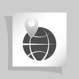 штырь на значке глобуса Стоковая Фотография RF
