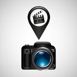 Штырь фильма колотушки камеры фото цифров Стоковые Фото