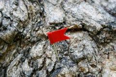 Штырь флага знака Стоковые Фотографии RF