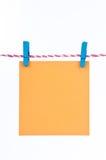 штырь hang бумажный деревянный Стоковое Изображение RF