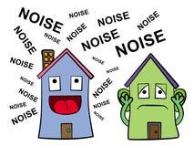 Шумный сосед иллюстрация штока