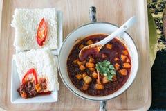 Шутиха риса с сладостным затиром Chili Стоковое Фото