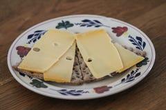 Шутиха Wholemeal с сыром на плите в кухне стоковые изображения