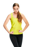 Шутка портрета фитнеса женщины Стоковое Фото