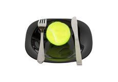 шутка Теннисный мяч на плите стоковое фото rf