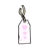 шуточная бирка багажа шаржа Стоковое Изображение
