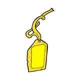 шуточная бирка багажа шаржа Стоковая Фотография RF