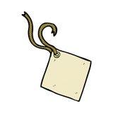 шуточная бирка подарка шаржа Стоковые Фотографии RF