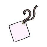 шуточная бирка подарка шаржа Стоковые Фото