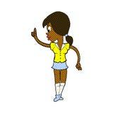 шуточная девушка шаржа с идеей Стоковая Фотография RF