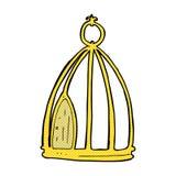 шуточная клетка птицы шаржа Стоковая Фотография