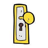 шуточная ручка двери шаржа Стоковое Фото