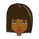 шуточная сторона женщины шаржа Стоковые Фотографии RF