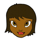 шуточная сторона женщины шаржа Стоковая Фотография RF