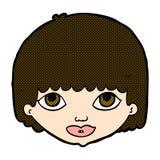 шуточная сторона женщины шаржа Стоковые Фото