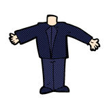 шуточное тело шаржа в костюме (шаржи смешивания и спички шуточные или добавляют Стоковые Фото