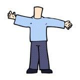 шуточное тело шаржа с открытыми оружиями (шаржи смешивания и спички шуточные Стоковое Фото