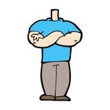 шуточное тело шаржа с сложенными оружиями (cartoo смешивания и спички шуточное Стоковое Изображение