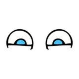 шуточные глаза шаржа Стоковые Фотографии RF