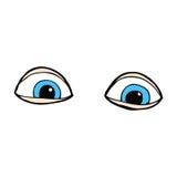 шуточные глаза шаржа Стоковое Фото