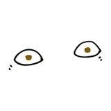 шуточные глаза шаржа Стоковое Изображение RF