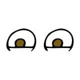 шуточные глаза шаржа Стоковое Изображение