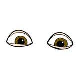 шуточные глаза шаржа Стоковые Изображения