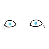 шуточные глаза шаржа Стоковая Фотография RF