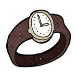 шуточные наручные часы шаржа Стоковое Изображение