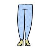 шуточные ноги женщины шаржа Стоковое Фото