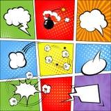 Шуточные пузыри речи и предпосылка шутки Стоковая Фотография RF