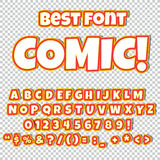 Шуточный комплект алфавита Письма, номера и диаграммы для иллюстраций ` детей, вебсайтов, комиксов Стоковая Фотография RF