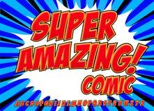 Шуточный комплект алфавита Письма, номера и диаграммы для kids& x27; иллюстрации, вебсайты, комиксы, знамена бесплатная иллюстрация