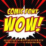 Шуточный комплект алфавита Письма, номера и диаграммы для kids& x27; иллюстрации, вебсайты, комиксы, знамена иллюстрация вектора