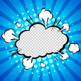 Шуточный пузырь речи, шарж иллюстрация штока