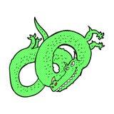 шуточный дракон шаржа Стоковая Фотография
