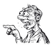 Шуточный сердитый человек Иллюстрация штока