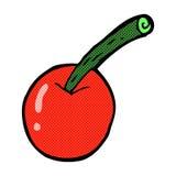 шуточный символ вишни шаржа Стоковые Фото