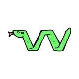 шуточный символ змейки шаржа Стоковая Фотография