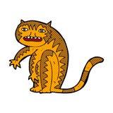 шуточный тигр шаржа Стоковая Фотография