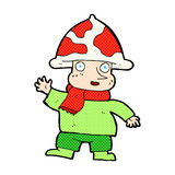 шуточный человек гриба шаржа Стоковая Фотография RF