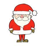 шуточный шарж Санта Клаус Стоковое Изображение RF